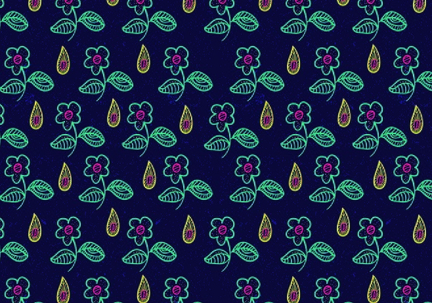 Bright Ditsy Floral Pattern Vector - бесплатный vector #445329