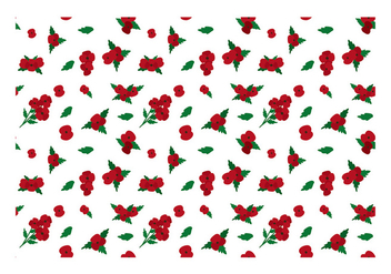 Ditsy Red Flower Free Vector - бесплатный vector #445349