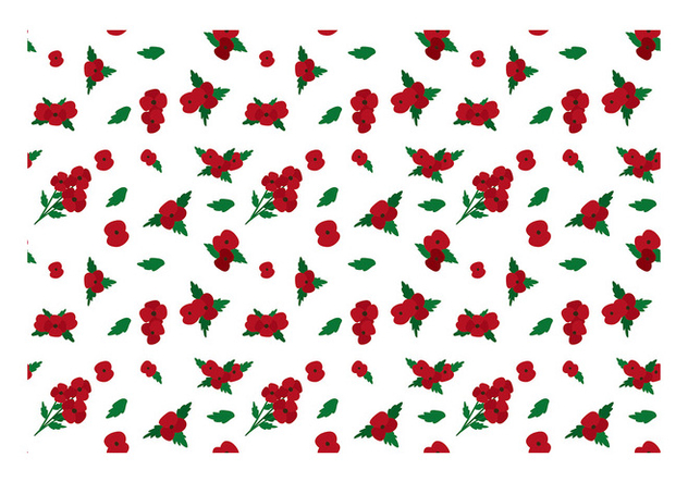 Ditsy Red Flower Free Vector - vector gratuit #445349