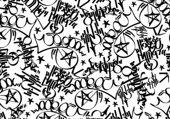 Vector Graffiti Tags Seamless Pattern - бесплатный vector #445359