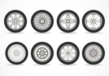 Alloy Wheels Vector - vector gratuit #445389