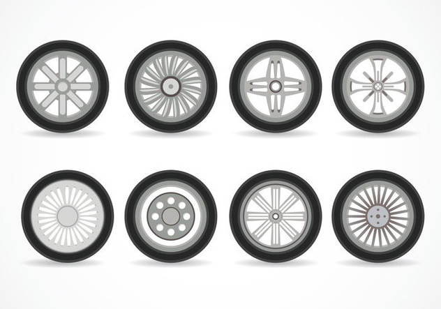 Alloy Wheels Vector - Free vector #445389
