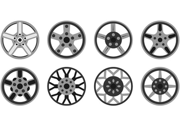 Icon Of Alloy Wheels - бесплатный vector #445399