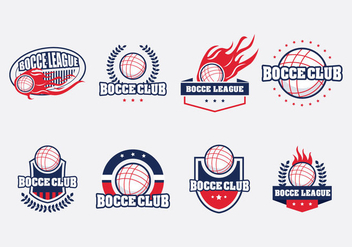 Bocce Badge Set - vector gratuit #445419