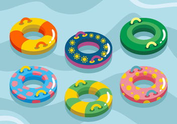 Swimming Inner Tube Vector Pack - Kostenloses vector #445429