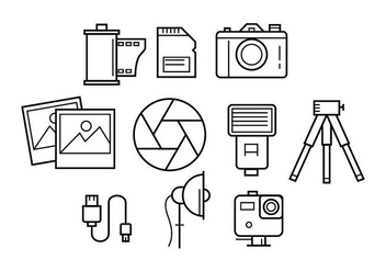 Free Photography Line Icon Vector - Kostenloses vector #445449