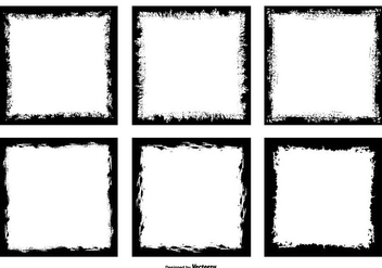 Grunge Style Photo Frame Edges - Free vector #445489