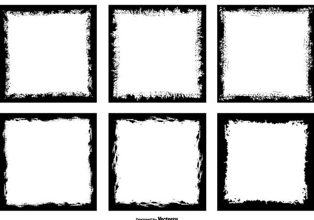 Grunge Style Photo Frame Edges - бесплатный vector #445489