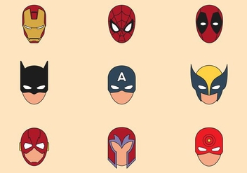 Superhero Mask Symbols - бесплатный vector #445499