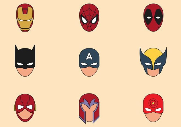 Superhero Mask Symbols - Free vector #445499