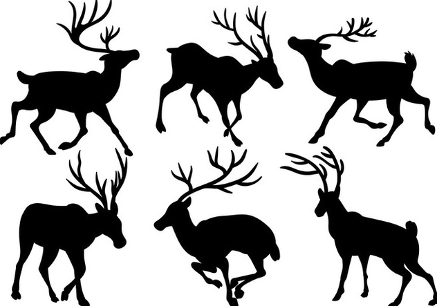 Caribou Vector Icons - бесплатный vector #445559