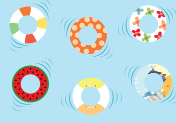 Swimming Inner Tube Vector Pack - Kostenloses vector #445609