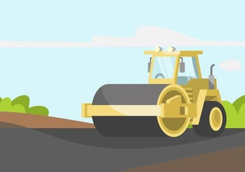Steamroller Illustration - бесплатный vector #445619