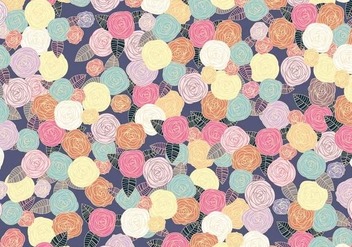 Ditsy Seamless Peony Pattern Vector - Free vector #445639