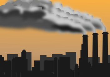 Factory Pollution Silhouette - Free vector #445679