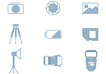 Photography Icons - vector #445699 gratis