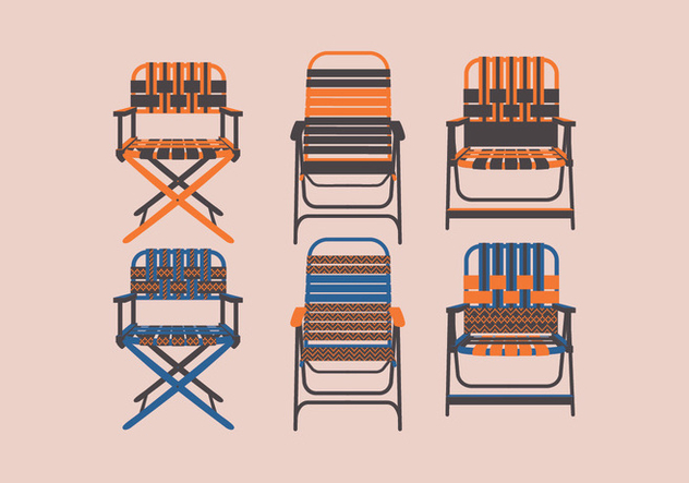 Lawn Chair Front View Vector - бесплатный vector #445709