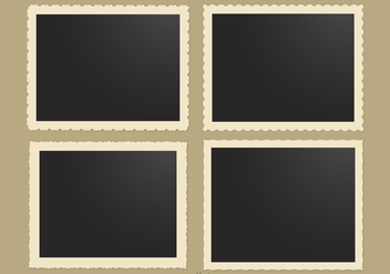 Photo Frames With Retro Edges Vector - Kostenloses vector #445719