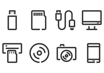Computer Accecories and Gadget Icon - vector #445729 gratis