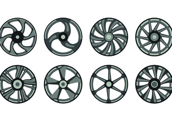 Icon Of Alloy Wheels - бесплатный vector #445739