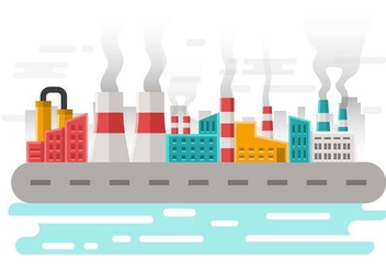 Free Factory Pollution Background Vector - vector gratuit #445779