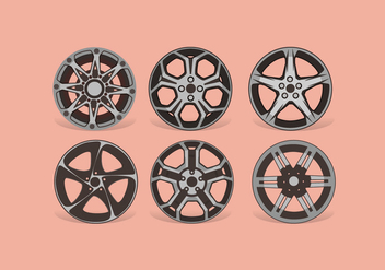 Alloy Wheels Vector - vector gratuit #445799