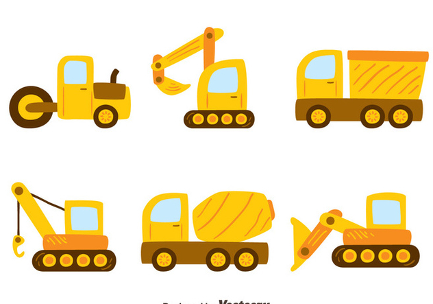 Construction Machine Vectors - Kostenloses vector #445819