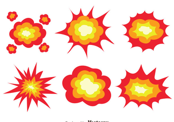 Demolition Explosion Collection Vector - Free vector #445829