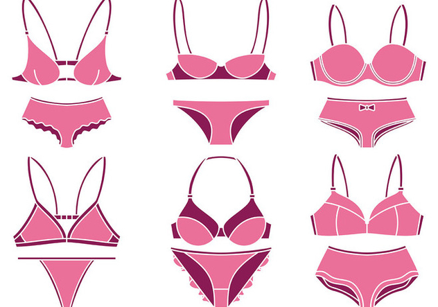 Bra and Underwear Vector Icons - vector gratuit #445859