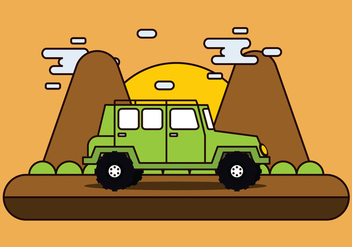 Adventure Offroad Jeep - бесплатный vector #445869