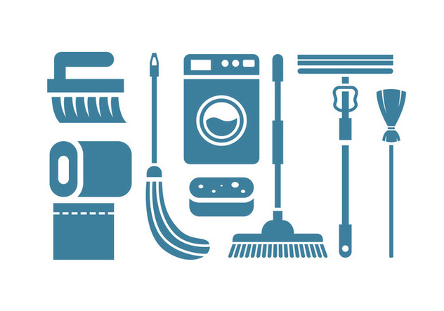 Cleaning tool vector icons - vector gratuit #445889