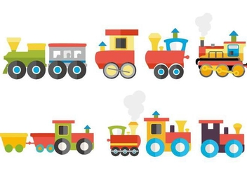 Free Colorful Child Train Vector - vector gratuit #445899