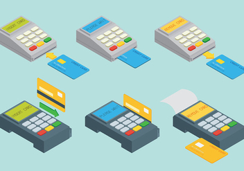 Card Reader Vector Icons - vector #445919 gratis