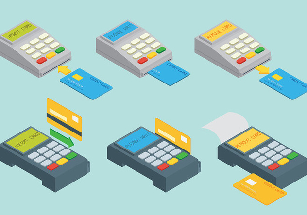 Card Reader Vector Icons - Free vector #445919