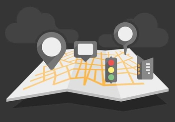 Free Unique Roadmap Vectors - vector gratuit #445929