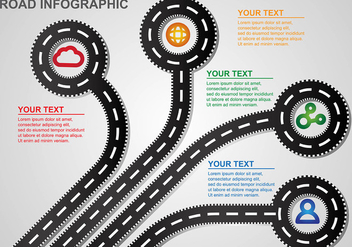 Roadmap Infographic Vector - vector gratuit #445949