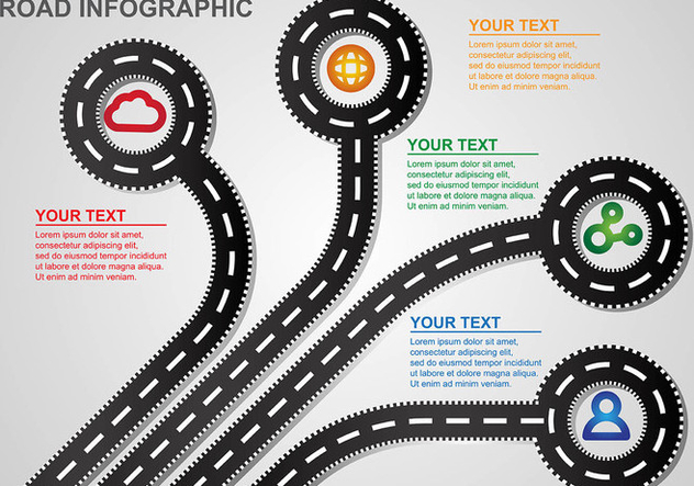 Roadmap Infographic Vector - бесплатный vector #445949