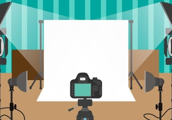 Photographer Studio Vector - Kostenloses vector #445999