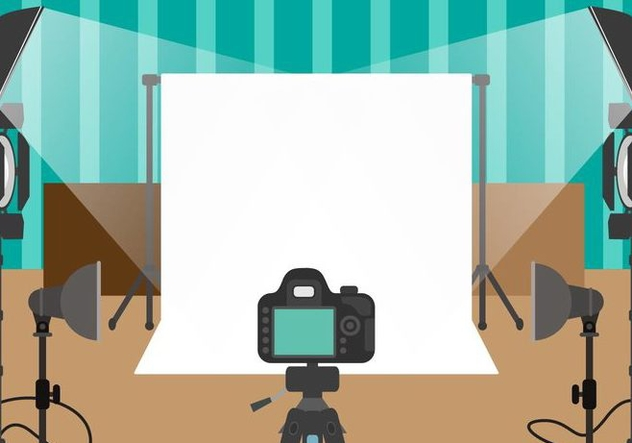 Photographer Studio Vector - Free vector #445999