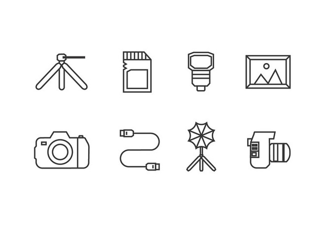 Photography tool icons - vector #446009 gratis