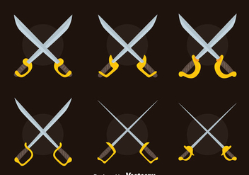 Nice Cross Sword Collection Vector - Free vector #446029