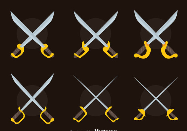 Nice Cross Sword Collection Vector - vector #446029 gratis