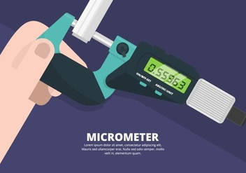 Micrometer Illustration - Free vector #446069