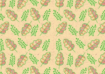 Ditsy Leaf Pattern Vector - Free vector #446079