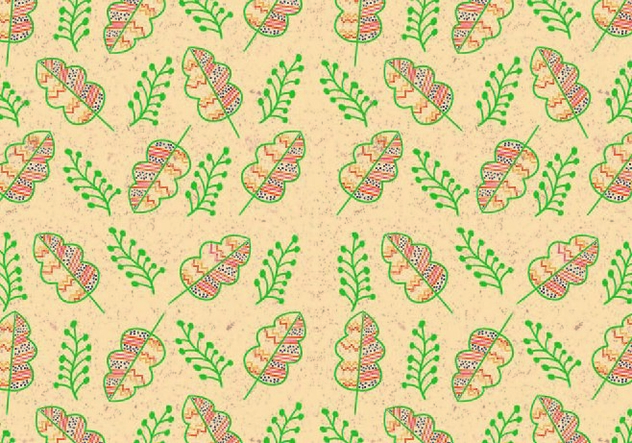 Ditsy Leaf Pattern Vector - бесплатный vector #446079
