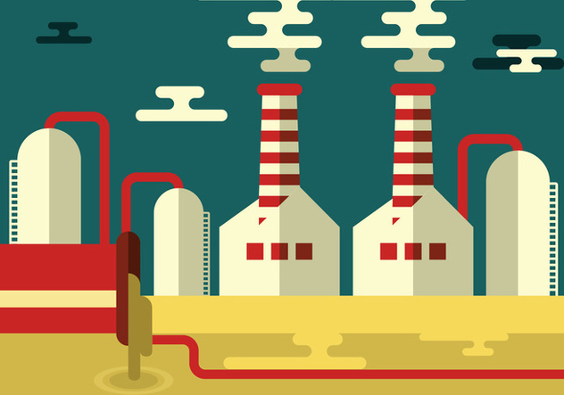 Simple Factory Landscape - бесплатный vector #446089