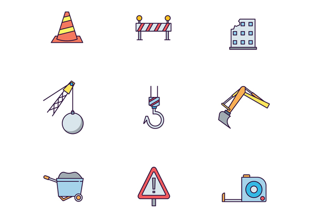 Building Works Icon Pack - Free vector #446289