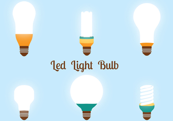 Led Lights Bulbs Vector Pack - бесплатный vector #446309