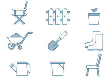 Lawn Care Icons - vector #446389 gratis