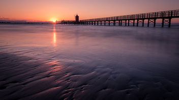 Faro Rosso at sunrise - Lignano Sabbiadoro, Italy - Seascape photography - Free image #446449